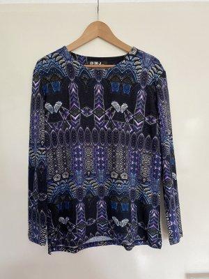 DMJ Pullover mit Rundhalsausschnitt Langarm Blau Lila Bunt Damengröße XL/XXL TOP