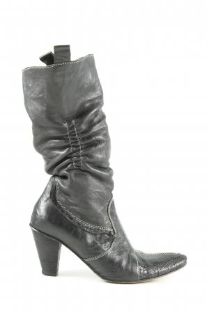 DMN Reißverschluss-Stiefeletten schwarz Street-Fashion-Look