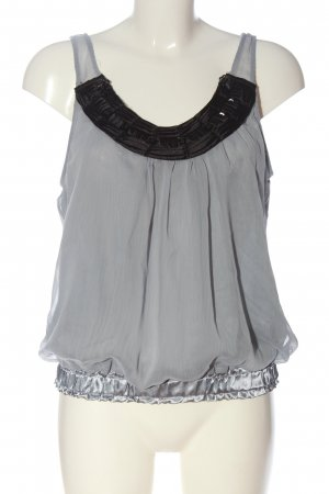 Do & Be Top linea A grigio chiaro-nero elegante