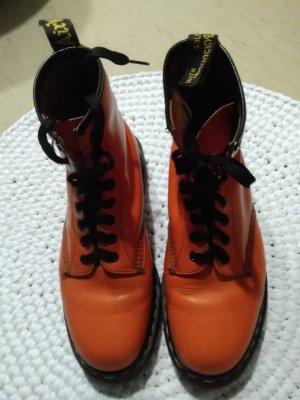 Doc Martens Stivale stringato arancio neon