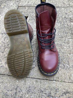 Doc Martens Aanrijg laarzen donkerrood