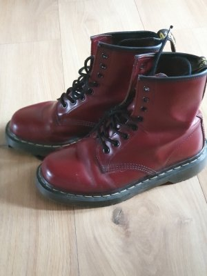 Doc Martens Botte courte rouge carmin-bordeau