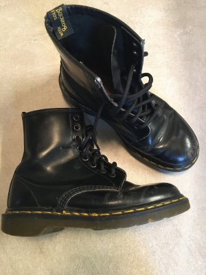 Doc Martens Lace-up Boots black-yellow