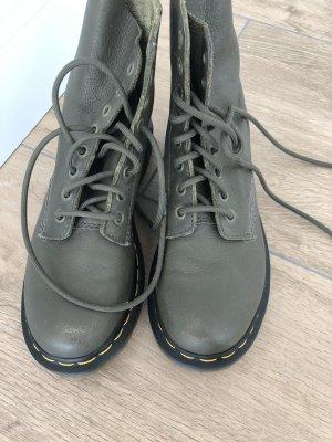 Dr. Martens Bottes à lacets gris vert