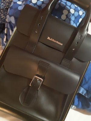 Dr. Martens Sac à dos pour ordinateur portable noir-jaune primevère cuir