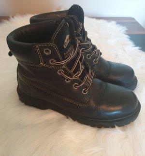 Dockers Aanrijg laarzen zwart Leer