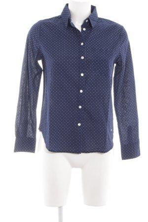 Dockers Hemd-Bluse blau-weiß Punktemuster Business-Look