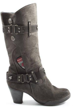 Dockers Wysokie buty na obcasie brązowy W stylu casual