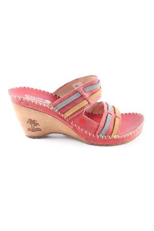 Dockers Sandales à talons hauts et plateforme multicolore style décontracté