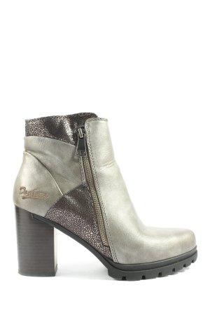Dockers Reißverschluss-Stiefeletten khaki-bronzefarben Casual-Look