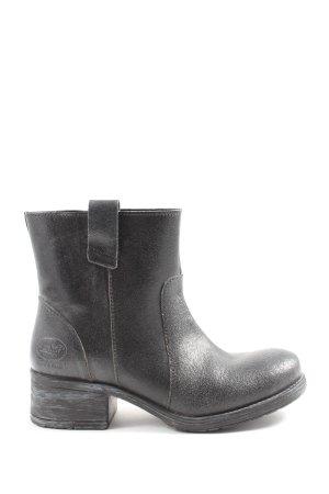 Dockers Reißverschluss-Stiefeletten schwarz Casual-Look