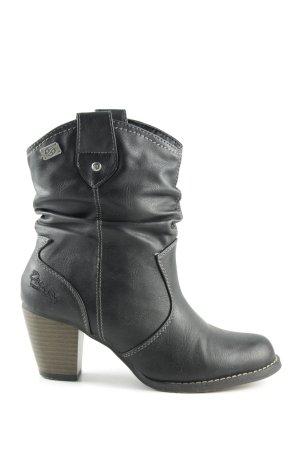 Dockers Schlüpf-Stiefeletten schwarz Casual-Look