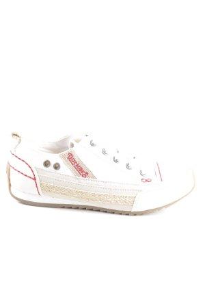 Dockers Sneaker Klettverschluss weiß Schriftzug gestickt Casual-Look