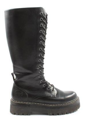 Dockers Soldatenkisten zwart straat-mode uitstraling