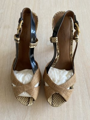 Dolce & Gabbana Slingback Pumps beige reptile leather