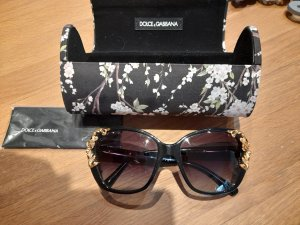 Dolce & Gabbana Oval Sunglasses black-brown violet