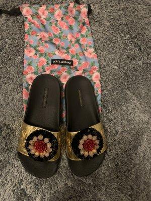Dolce & Gabbana Heel Pantolettes multicolored