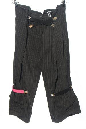Dolce & Gabbana Baggy Pants schwarz-hellgrau Streifenmuster Casual-Look