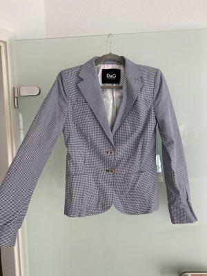Dolce & Gabbana Korte blazer korenblauw-wit Zijde