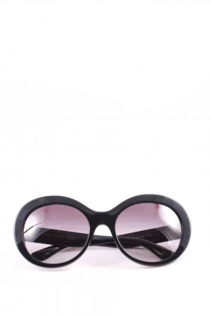 Dolce & Gabanna Brille schwarz-goldfarben Business-Look