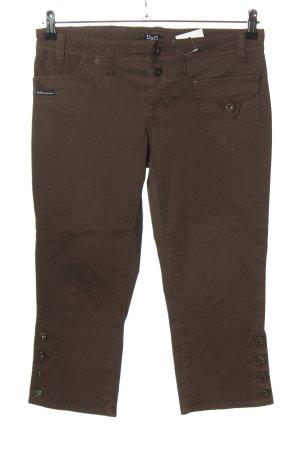 Dolce & Gabbana Pantalone a 3/4 marrone stile casual