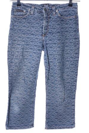 Dolce & Gabbana Vaquero 3/4 azul letras impresas look casual