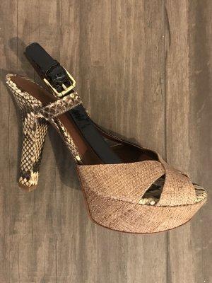 Dolce & Gabbana Décolleté con plateau marrone chiaro Pelle