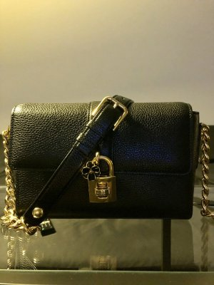 Dolce & Gabbana Carry Bag black-gold-colored leather
