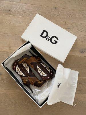Dolce & Gabbana Botas estilo vaquero multicolor