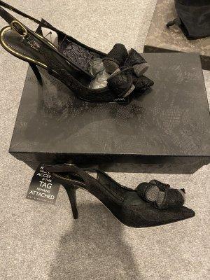 Dolce & Gabbana Décolleté modello chanel nero Pizzo