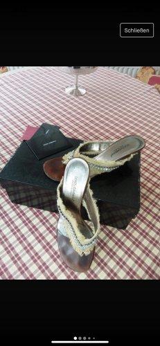 Dolce & Gabbana Toe-Post sandals cream-silver-colored