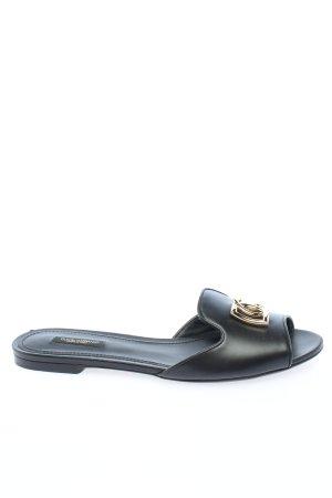"""Dolce & Gabbana Zomerschoenen met hak """"Bianca Slides"""" zwart"""