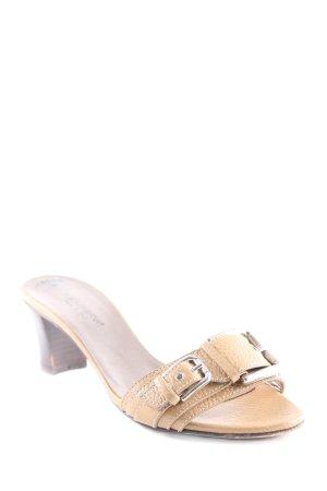 Dolce & Gabbana Absatz Pantoletten sandbraun-silberfarben Elegant