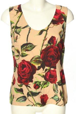 Dolce & Gabbana ärmellose Bluse Allover-Druck Casual-Look