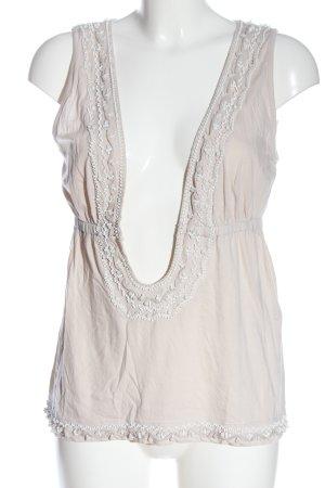 Dolce & Gabbana Blusa sin mangas blanco puro look casual