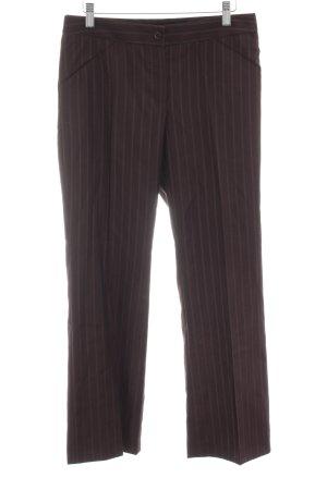 Dolce & Gabbana Anzughose braun Streifenmuster Business-Look