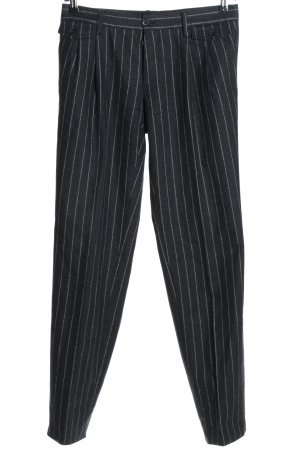 Dolce & Gabbana Suit Trouser black-natural white striped pattern business style