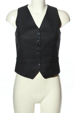 Dolce & Gabbana Anzugweste schwarz Streifenmuster Business-Look