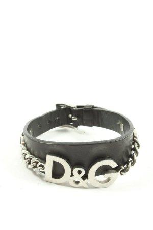 Dolce & Gabbana Braccialetto sottile nero stile casual