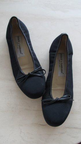 Dolce & Gabbana BALLERINA GR. 37,5 schwarz Nylon