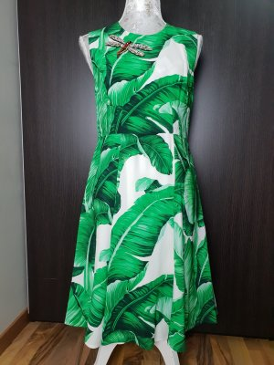 Dolce Gabbana Bananenblatt Kleid aus Seide it. Gr. 44