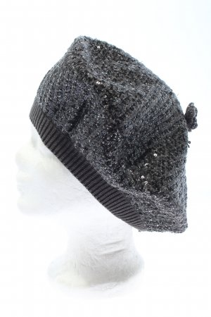 Dolce & Gabbana Beret silver-colored flecked elegant