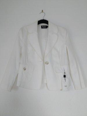 Dolce & Gabbana Blazer en laine blanc coton