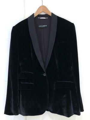 Dolce & Gabbana Smokingblazer zwart Katoen