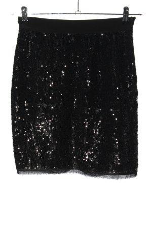 Dolce & Gabbana Bleistiftrock schwarz Glitzer-Optik