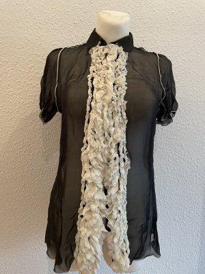 Dolce & Gabbana Short Sleeved Blouse black-white