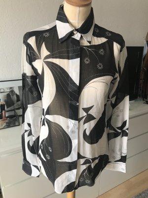 Dolce & Gabbana Bluse mit Blumenmuster Schwarz Weiß