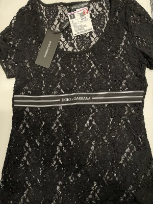 Dolce & Gabbana Kanten topje zwart-wit