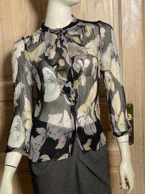 Dolce & Gabbana Blouse transparente multicolore mousseline de soie