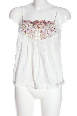 Dolce & Gabbana Camisa de mujer blanco estampado floral look casual